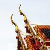 Gable apex architecture of golden buddha Royalty Free Stock Photos