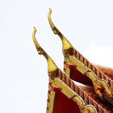 Gable apex architecture of golden buddha Stock Images