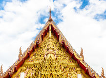 Gable apex of church in a temple Royalty Free Stock Image