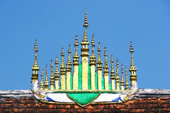 Gable apex Laos style with Blue Sky Stock Image