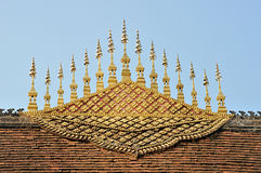 Gable Apex Of Luang Prabang Temple Roof Stock Image
