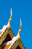 Gable apex on the roof of royal temple in Chiangmai, thailand. Royalty Free Stock Photography