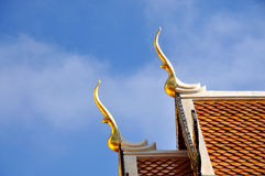 Gable apex Roof. Wat Doi suthap in Thailand Stock Images