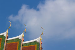 The gable apex with small bell Royalty Free Stock Photos