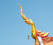 The Gable apex  of temple Royalty Free Stock Images