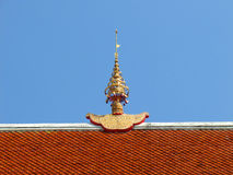 Gable apex on the temple roof Royalty Free Stock Image