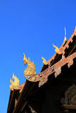 Gable apex in temple roof Royalty Free Stock Photo