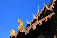 Gable apex in temple roof, Thailand Royalty Free Stock Image