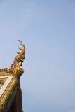 Gable apex. The gable apex on the temple at wat maha wana ram, Ubon Ratchathani stock photos