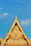Gable apex Thai temple Royalty Free Stock Photo