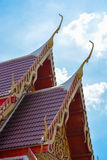 Gable apex Thai temple Royalty Free Stock Photos