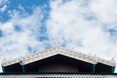 Gable apex on the top roof Royalty Free Stock Photos