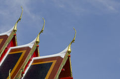 Gable apex at wat pho. Stock Photos