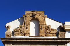 Gable of a baroque church Royalty Free Stock Images