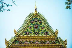 Gable Cathedral Wat Chalerm Phrakait thailand Photographie stock libre de droits