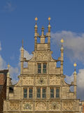 Gable, detail  of a guild house in Ghent Stock Photos