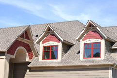 Gable Dormers on Residential Home Stock Image