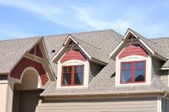 Gable Dormers on Residential Home Stock Image