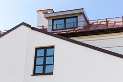 Gable dormers and roof of residential house Stock Images