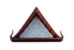 Gable end of ancient thai style pavilion. Ancient antique architecture art, asia gable, garden, green, historical, home, house landscape life Royalty Free Stock Photos