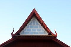 Gable end of ancient thai style pavilion. Gable garden, green, historical, home, house, landscape life, ancient, antique architecture art asia asian beautiful Stock Image