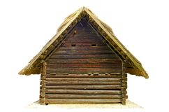 Gable end of an old log house Royalty Free Stock Images