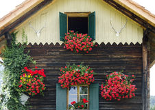Gable front of a mountain cabin Royalty Free Stock Images