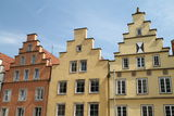Gable houses. In the old town in Osnabrück Royalty Free Stock Image