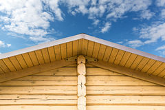 Gable of log cabin Royalty Free Stock Photo