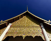 Gable of the main viharn of Wat Chedi Luang in Chiang Mai Stock Images