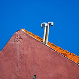 Gable of a mediterranean house Stock Images