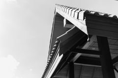 The gable of the pavilion Royalty Free Stock Images