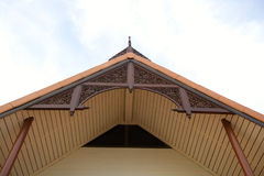 Gable Roof Of The Thai House. Stock Image