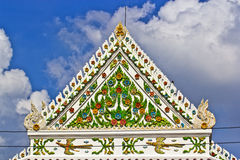 Gable roof. The gable roof of the ordination hall in thai buddhist temple Royalty Free Stock Photo