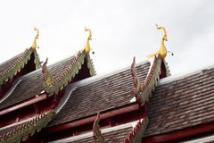 Gable and roof temple Royalty Free Stock Image