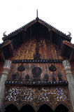 Gable roof of the thai church Royalty Free Stock Photography