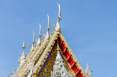Gable roof on Thai temple Royalty Free Stock Photo