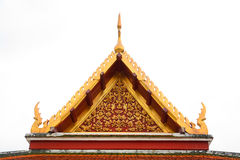 Gable roof on Thai temple in Wat Ratchanadda, Bangkok, Thailand Stock Images