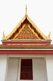 Gable roof on Thai temple in Wat Ratchanadda, Bangkok, Thailand Stock Images