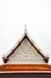 Gable roof on Thai temple in Wat Ratchanadda, Bangkok, Thailand Royalty Free Stock Photography