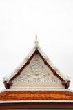 Gable roof on Thai temple in Wat Ratchanadda, Bangkok, Thailand Royalty Free Stock Photography