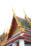 Gable roof on Thai temple in Wat Ratchanadda, Bangkok, Thailand Royalty Free Stock Images