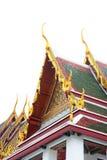Gable roof on Thai temple in Wat Ratchanadda, Bangkok, Thailand Royalty Free Stock Images