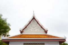 Gable roof on Thai temple in Wat Ratchanadda, Bangkok, Thailand Stock Photography