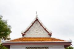 Gable roof on Thai temple in Wat Ratchanadda, Bangkok, Thailand Stock Photography