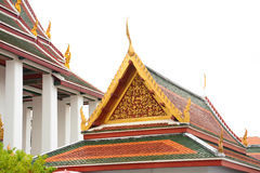 Gable roof on Thai temple in Wat Ratchanadda, Bangkok, Thailand Royalty Free Stock Photo