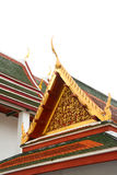 Gable roof on Thai temple in Wat Ratchanadda, Bangkok, Thailand Stock Image