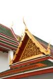 Gable roof on Thai temple in Wat Ratchanadda, Bangkok, Thailand Stock Image