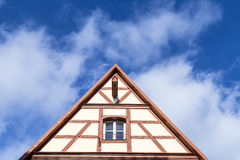 Gable roof of traditional German Royalty Free Stock Photography