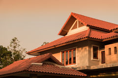 Gable roof of tropical home Royalty Free Stock Photos